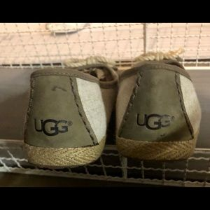 UGG Shoes - Ugg Canvas Slip on with knot tie and leather back